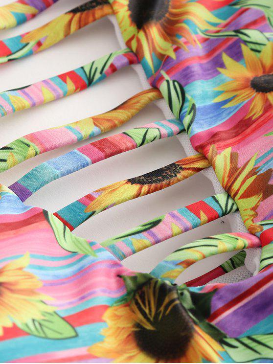 À Découpé Tournesol M De Ensemble Bikini L'echelleMulti 3jqAc54RL