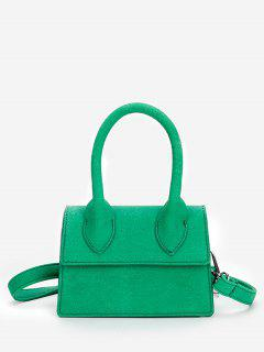 Minimalist Flapped Stitching Chic Sling Bag - Green