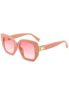 Gafas De Sol De Marco Completo Con Remaches Triangulares únicos - Rosa