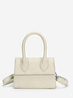 Minimalist Flapped Stitching Chic Sling Bag - Platinum