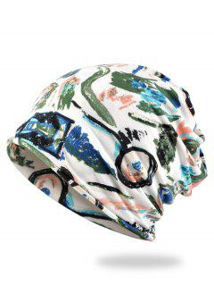 Stylish Hand-painted Printed Slouch Beanie - Army Green