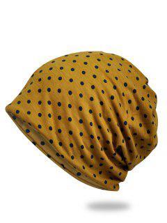 Lightweight Polka Dots Slouch Beanie - Golden Brown