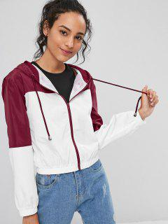 Two Tone Hooded Jacket - White L