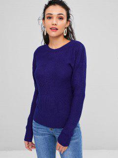 Basic Pullover Mit Rundhalsausschnitt - Blauwal M