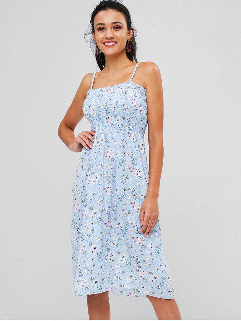 Vestido camisola con diseño floral - Azul Claro Única Talla Mobile