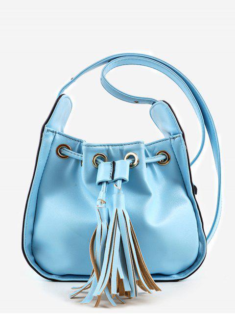 Chic Minimalist Tassels sólido bandolera - Azul  Mobile