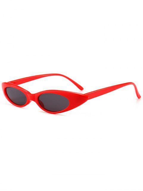 new Anti UV Small Oval Sun Shades Sunglasses - LOVE RED  Mobile