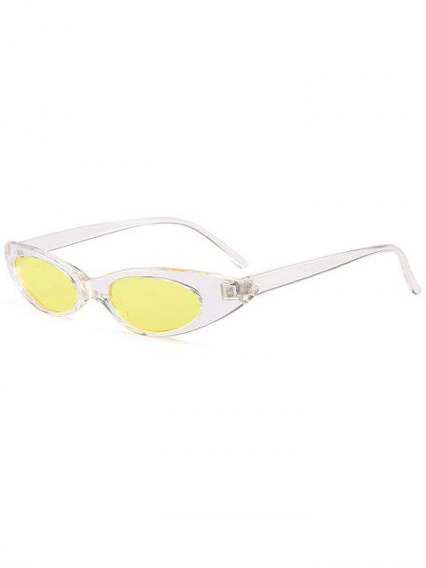 Anti-UV-kleine ovale Sonnenbrille Sonnenbrille - Gelb  Mobile