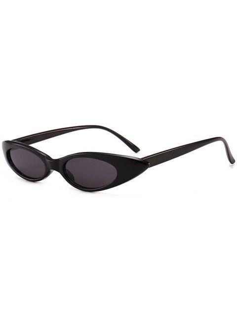 trendy Anti UV Small Oval Sun Shades Sunglasses - BLACK  Mobile