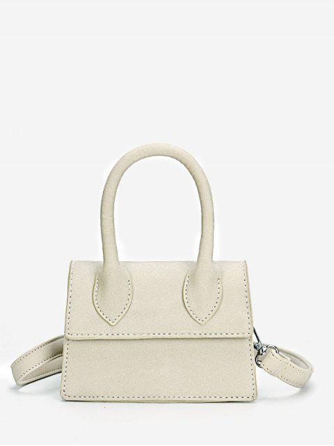 Minimalista Flapped Stitching Chic Sling Bag - Platino  Mobile