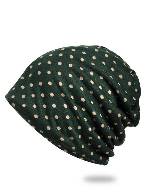 chic Lightweight Polka Dots Slouch Beanie - ARMY GREEN  Mobile