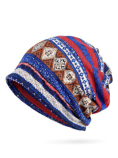 Bonnet Slouchy imprimé géométrique - Bleu  Mobile