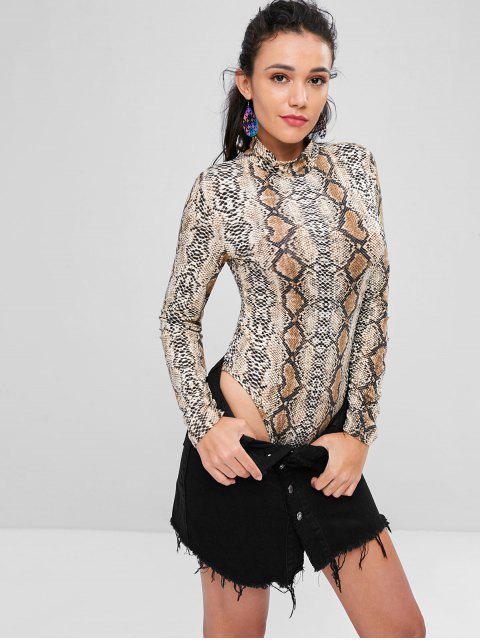 shops Snakeskin Long Sleeve Bodysuit - MULTI L Mobile