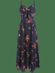 Con Y Floral Lapisl Lunares Vestido Largo S 225;zuli Estampado zvqx75
