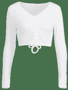 Camiseta M Crop Cinched Crop Blanco Camiseta Camiseta Cinched Blanco M M Blanco Crop Camiseta Cinched 1qCvwZ