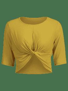S Abeja Amarilla Cropped Front Twist De Tee 7fAAYq