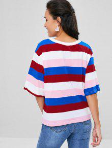 Camiseta De Sleeves Half Multicolor Color M De Bloque gBwfr4qgx