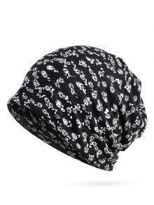 خمر مزدهر الزهور فضفاضه قبعة صغيرة - أسود