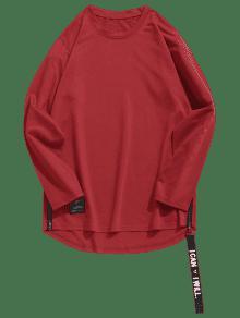 Rojo Con L Lateral Dobladillo Trasero Cremallera Casta o Curvado x0Oqpw