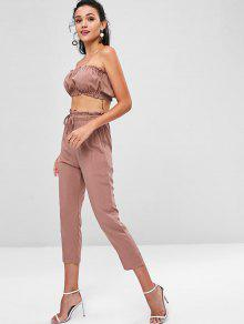 L Co Set Ord Joggers Pants Bandeau Top Y PwZxIq7F0