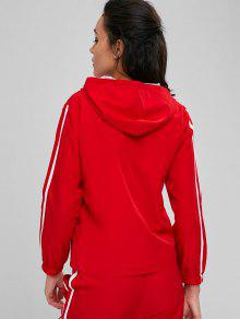 Lava Rojo De Contraste Con Chaqueta En M Malla Cremallera Y6Ezwnq0