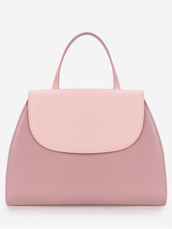 حقيبة الغرض متناقضة اللون فلات كل يد - وردي فاتح