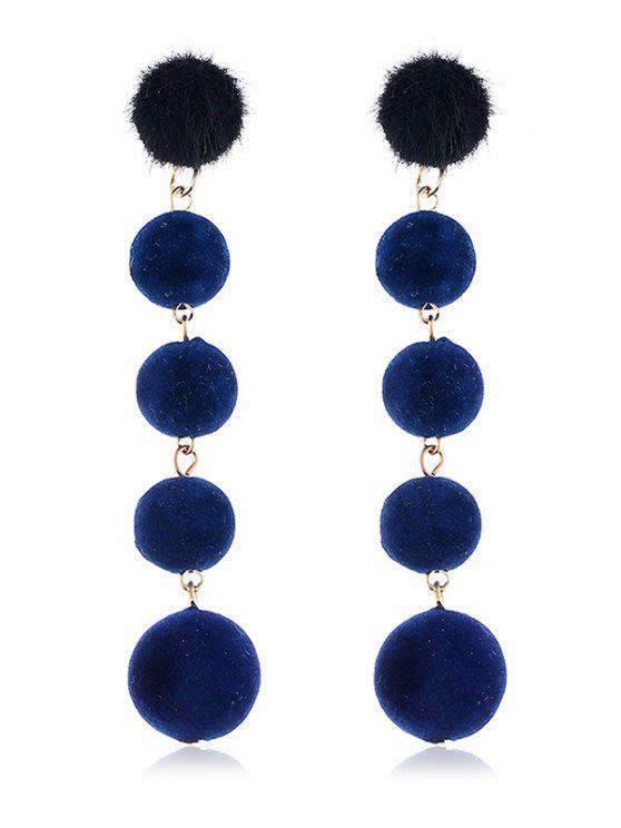 Pendientes colgantes decorativos Dangling Fuzzy Balls - Azul Marino