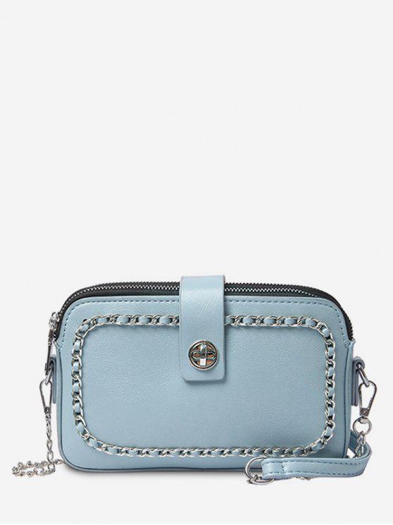 online Chain Minimalist Leisure Shopping Sling Bag - OCEAN BLUE