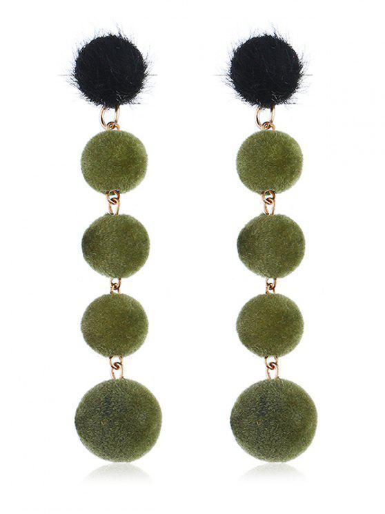 Brincos Pendentes Decorativos Bolas Difusas - Verde profundo