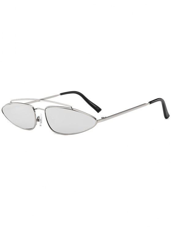 women's Stylish Irregular Lens Crossbar Sunglasses - WATER