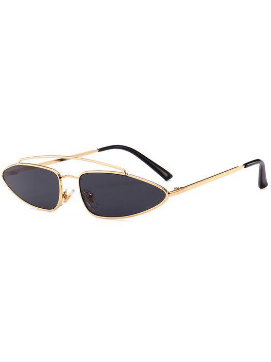 Stilvolle unregelmäßige Linse Crossbar Sonnenbrille - Schwarz