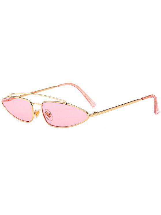 ca64b4cb89a62 8% OFF  2019 Stylish Irregular Lens Crossbar Sunglasses In PINK