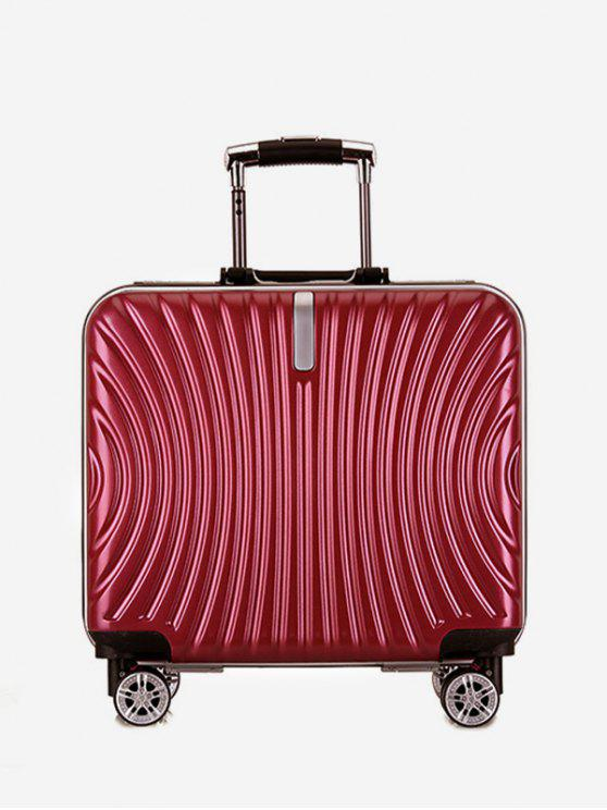 shops Functional Universal Wheel Travel Suitcase - RED