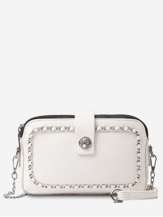 unique Chain Minimalist Leisure Shopping Sling Bag - WARM WHITE