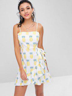 Ruffles Pineapple Cami Dress - White S