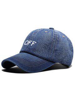 Unique OFF Adjustable Baseball Cap - Blue