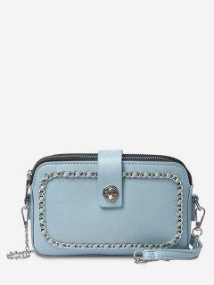 Chain Minimalist Leisure Shopping Sling Bag - Ocean Blue