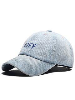 Unique OFF Adjustable Baseball Cap - Light Blue