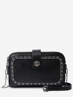 Chain Minimalist Leisure Shopping Sling Bag - Black