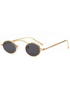Anti Fatigue Metal Frame Oval Novelty Sunglasses - Gold