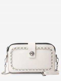 Chain Minimalist Leisure Shopping Sling Bag - Warm White
