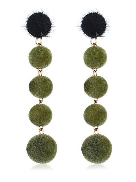 Boucles d'oreilles décoratives pendantes - Vert profond  Mobile