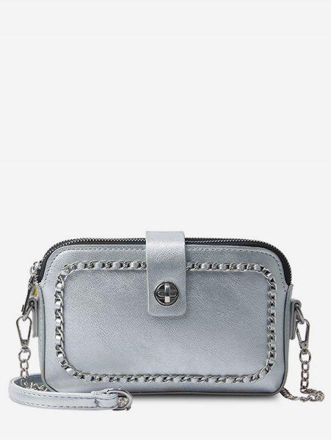 Kette minimalistischen Freizeit Shopping Sling Bag - Platin  Mobile