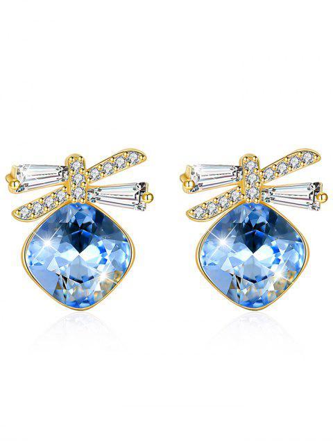 Pendientes de cristal brillante de diamantes de imitación Bowknot - Azul Mariposa   Mobile