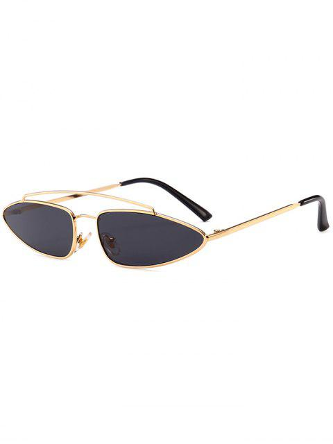 Stilvolle unregelmäßige Linse Crossbar Sonnenbrille - Schwarz  Mobile