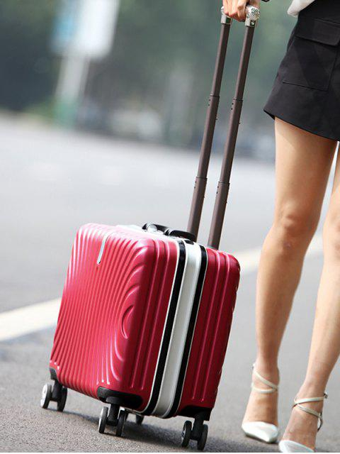shops Functional Universal Wheel Travel Suitcase - RED  Mobile