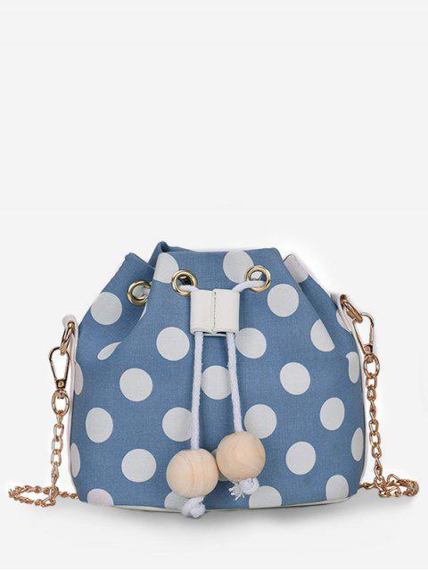 Bolso bandolera de lunares color Block - Azul Mariposa   Mobile