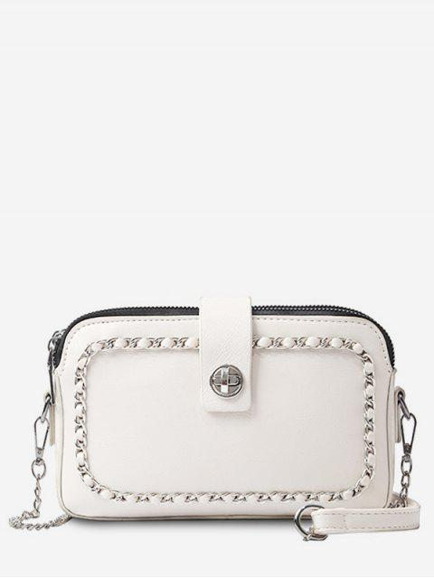 unique Chain Minimalist Leisure Shopping Sling Bag - WARM WHITE  Mobile