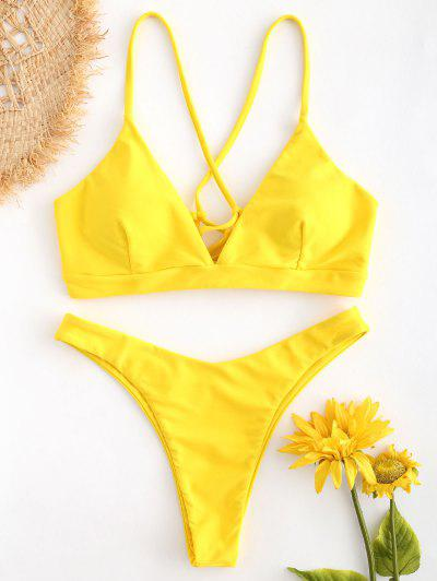 2d169bbfd2 2019 Yellow High Waisted Bikini Online | Up To 74% Off | ZAFUL .