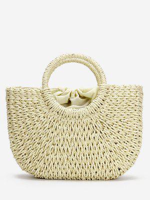 Minimalistische Stroh-Taschen-Tasche für Ferien
